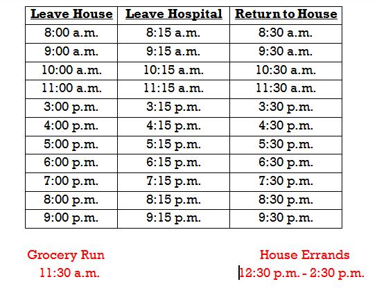 Van-Schedule
