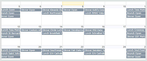 View Our Family Meal Program Calendar