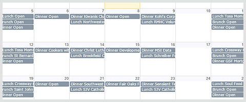 View Our Family Meal Program Calendar
