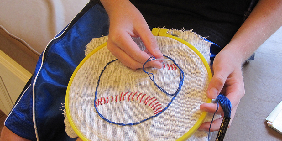 Baseball Stitching for Expressive Therapies