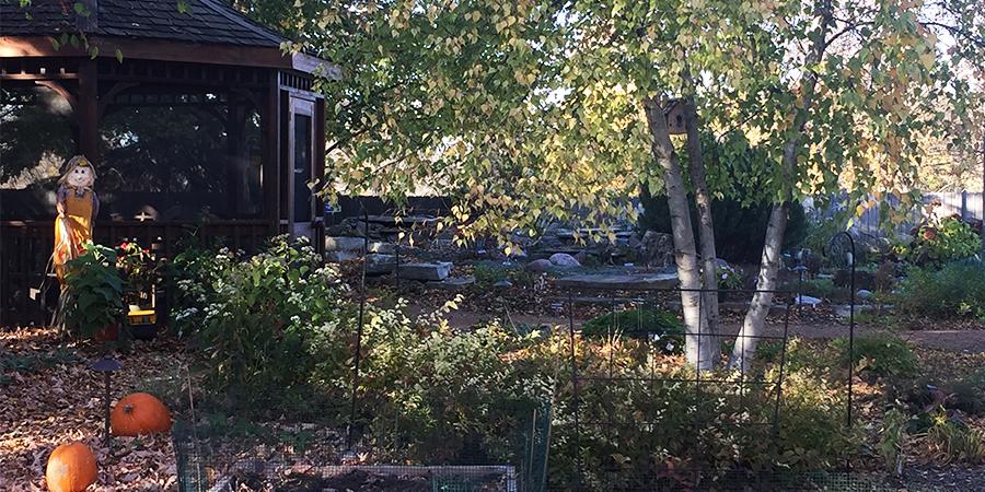 Secret Garden During Fall
