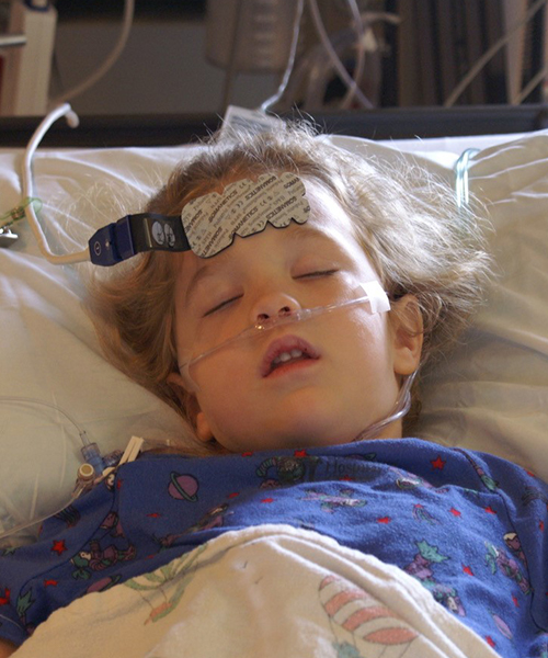 Bridget Kapic in the hospital
