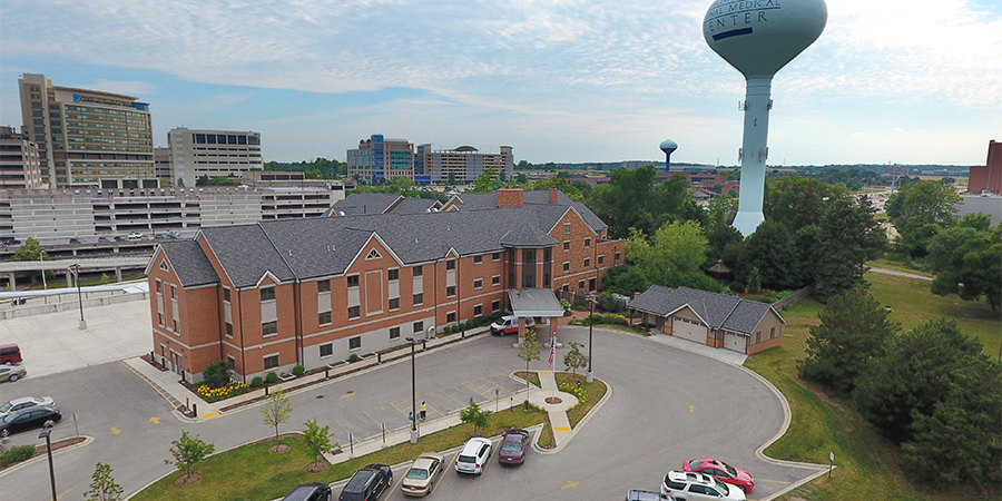 Ronald McDonald House Aerial view