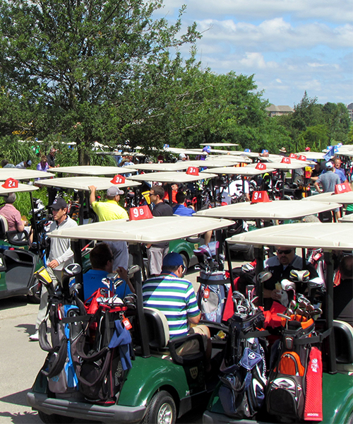 Golf Carts at the Golf Outing