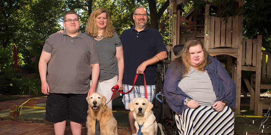 The Martin Family in the Secret Garden