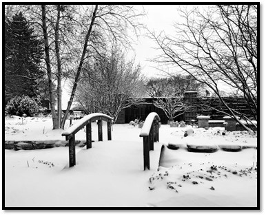 Snow covered Secret Garden