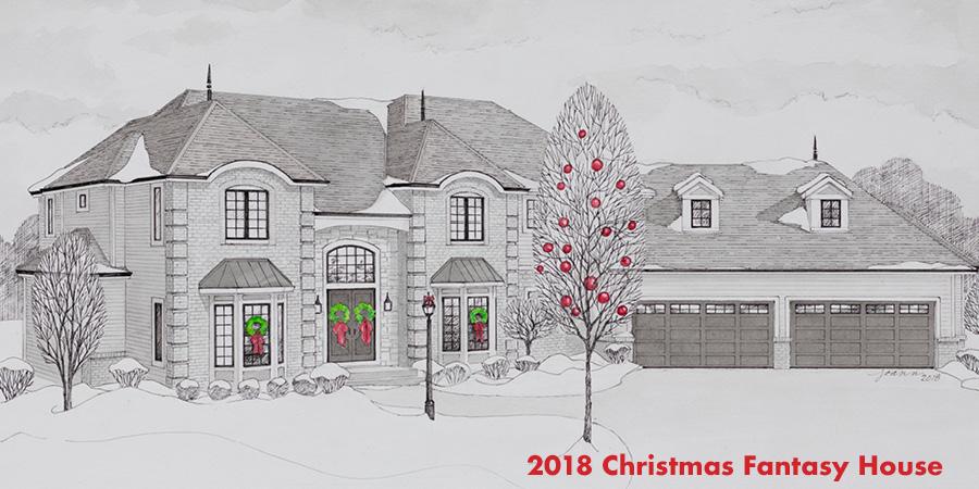 Christmas Fantasy House Sketch